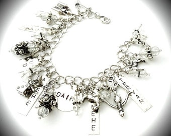 Kate Daniels Theme Charm Bracelet  ~ Myth & Magic ~ Urban Fantasy ~ Vampire ~ ShapeShifter ~ Witch ~ Themed Bracelet ~ Author Swag - Fandom