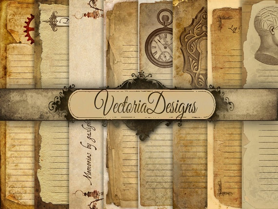 Printable Steampunk Diary Pages Junk Journal Pages Digital Paper 8.5 X 11  Paper Scrapbooking Digital Download Digital Sheet   VD0462  Diary Paper Printable