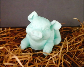 Pig Soap: Adorable Piglet Soap, Great gift idea for people who love pigs! You Choose Color & Scent