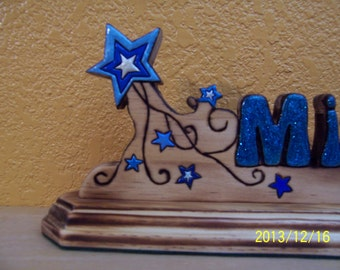 Shooting Star Nameplate Personalized