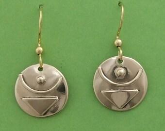 Bronze Empowered Symbol  earrings