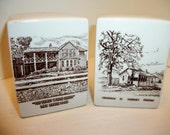 Salt and pepper souvenir LBJ ranch and birthplace, rare collectible set