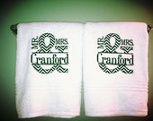 Mr. and Mrs Couples Towel Last Name Personalized Wedding Bath Towels Set of 2 Couple shower gift