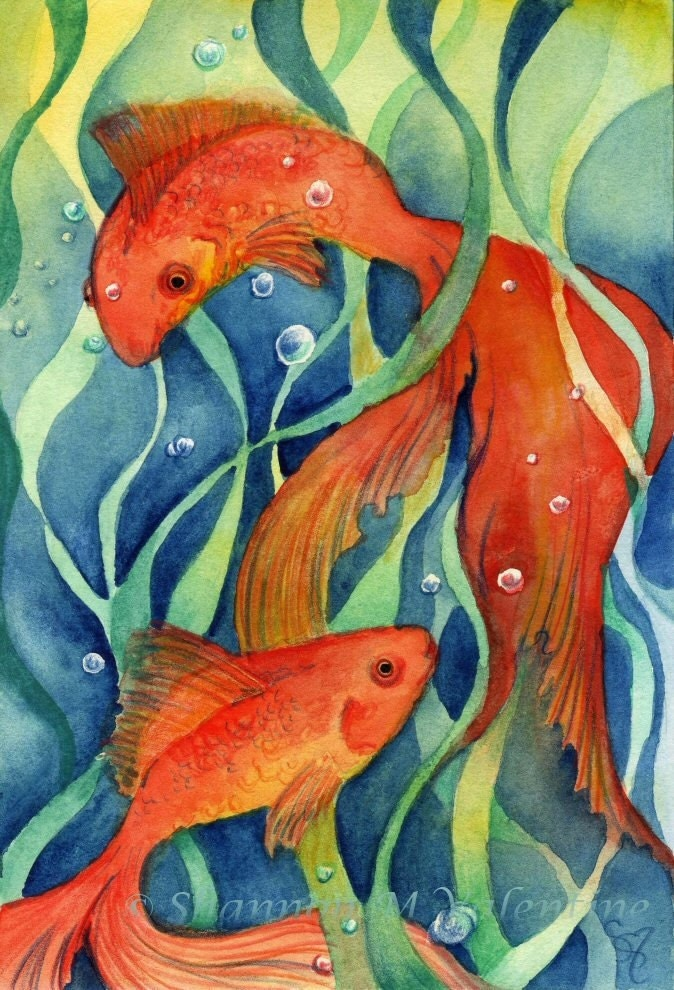 Koi fish art print koi dream ii fantasy art for Koi fish paintings prints