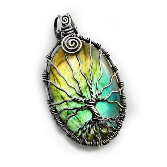 Sale Labradorite Tree Of Life Necklace Handmade Jewelry