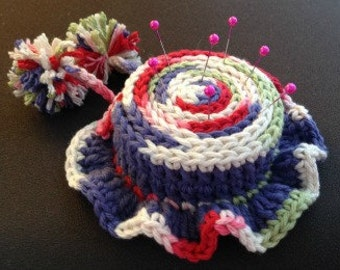 Crochet Pin Cushion Hat