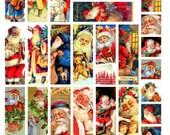 Christmas Slides V1, Fits Microscope Slides, Collage Sheet, Holiday Vintage Illustrations - Digital Download JPG File by Swing Shift Designs