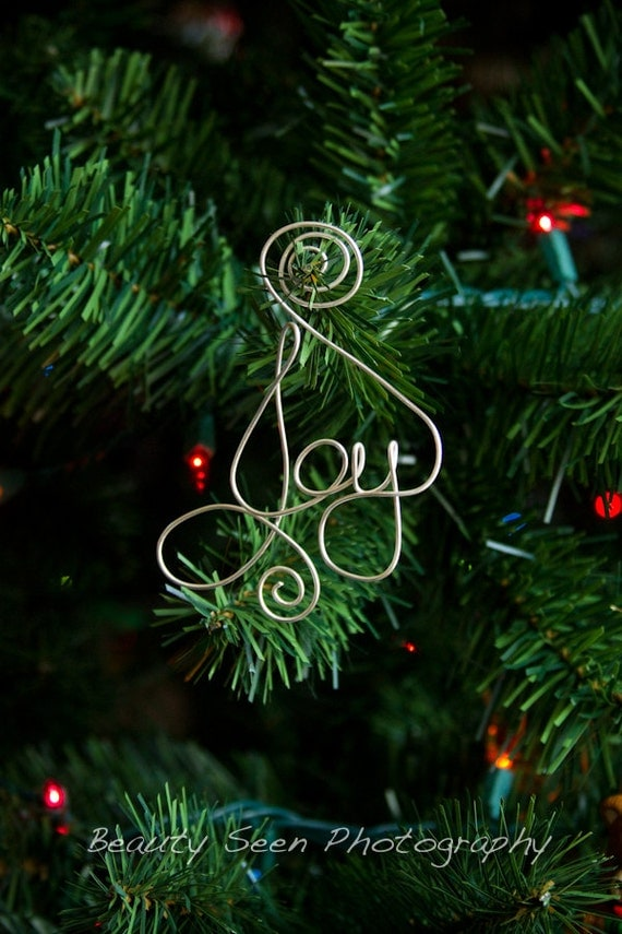 Items similar to christmas tree decorations joy ornament for Christmas tree items list