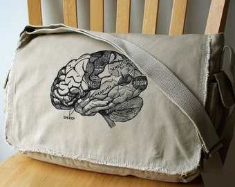 Brain Messenger Bag Laptop Bag for Men
