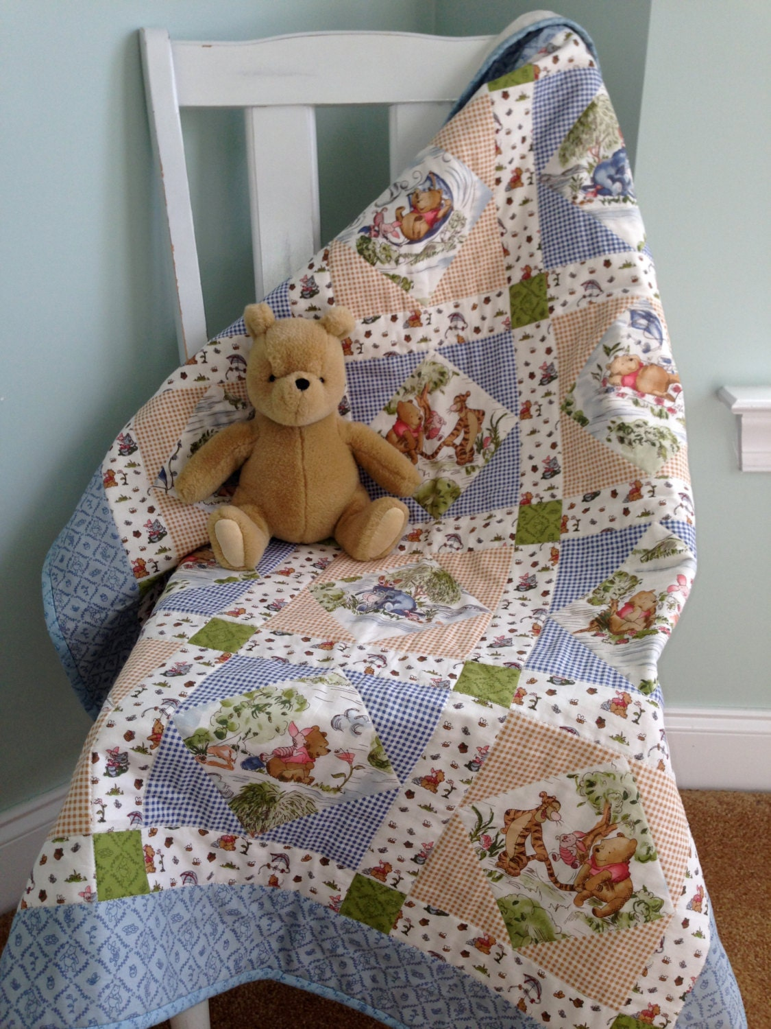 Winnie The Pooh Quilt By Easingtension On Etsy