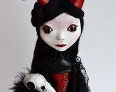 Custom Art Doll - OOAK Art Doll - Devil Art Doll - Victorian Art Doll