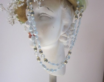 "Light ""Celadon  Green"" Vintage West German Glass Necklace"