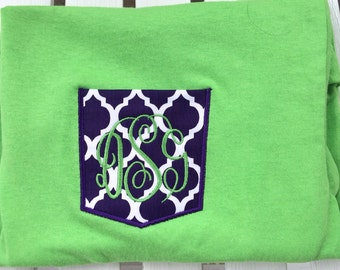 Pocket shirt Monogrammed pocket appliquéd t-shirt