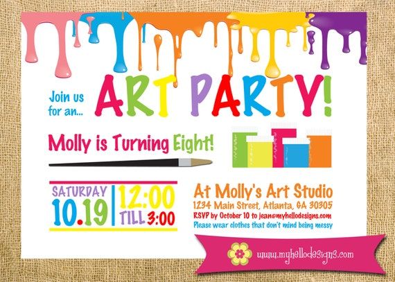 It's just an image of Candid Free Printable Paint Party Invitations