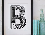 Best of Balham limited edition screenprint // London Letters series