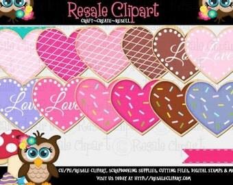 Valentine Cookies 1 Clipart (Digital ZIP File Download)