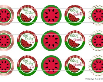 """15 Seed Spttin Cutie 1 Digital Download for 1"""" Bottle Caps (4x6)"""