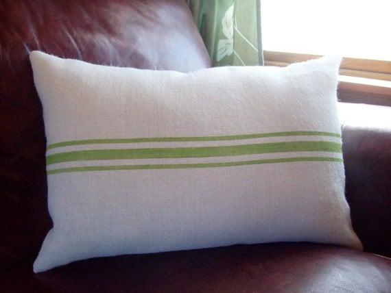 Grain Sack Striped Lumbar Pillow Cover 16 X 24 Choose Your