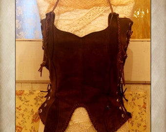 Leather Corset or Chaps made from Cowboy Boots