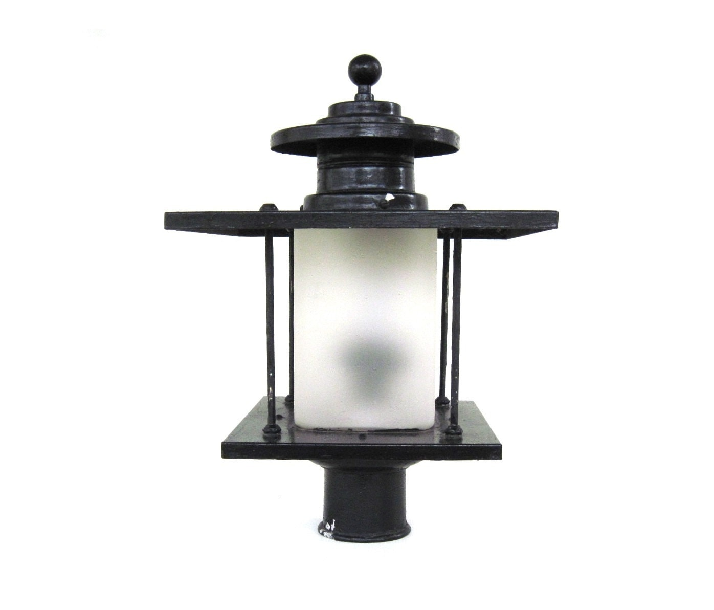 Artolier exterior lamp post light fixture lantern yard outdoor for Yard lighting fixtures