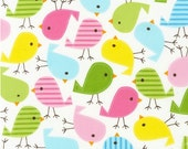 Urban Zoologie Birds in Spring by Ann Kelle for Robert Kaufman Fabrics  (1 yard) BUY MORE & SAVE