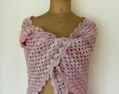 Crochet triangle scarf granny square shawl