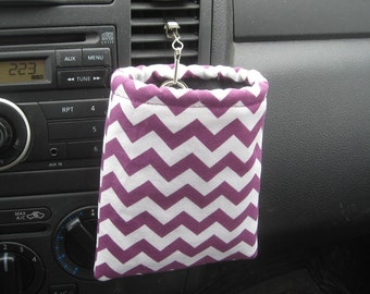 Car sunglasses/ipod/iphone case - Chevrons burgundy - Ready to ship