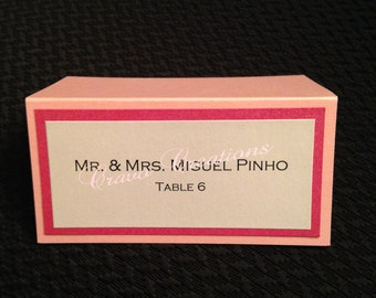 Pink & White Placecards