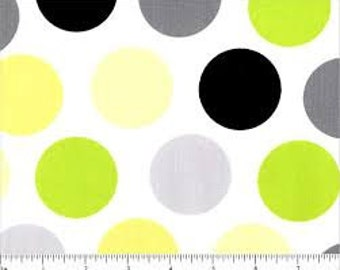 06471 VIP - Spring Fling large dots in citron -  1 yard