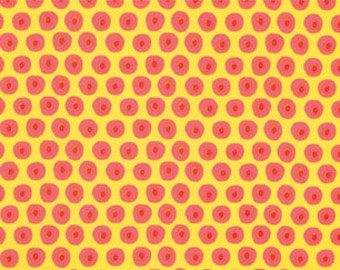 25147 - Dena Designs The Painted Garden Collection - Posey in yellow- PWDF140 - 1 yard