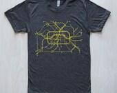 Berlin T-Shirt - Dk Gray/Lime