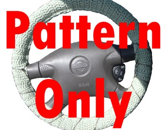 PDF Crochet Pattern: Steering Wheel Cover 1