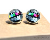 Tv testing signal Post Earrings Fun retro Jewelery, from MADEbyMADA