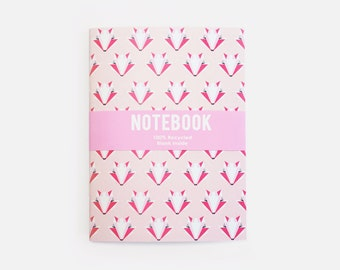 Fox Notebook Pink