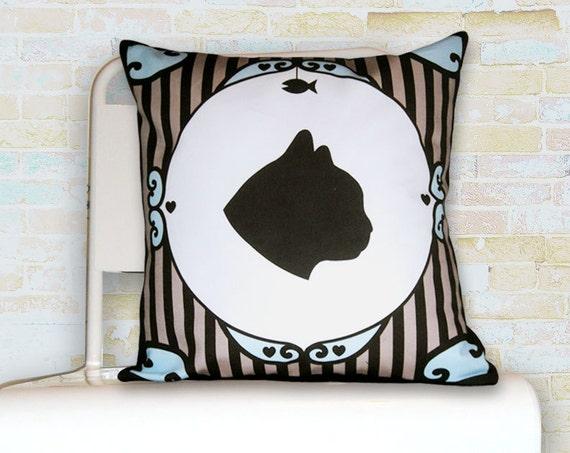Cat Silhouette Pillow - SALE