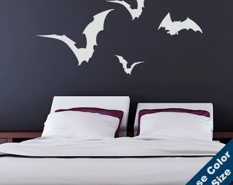 Flying Bats Wall Decal - Vinyl Sticker - Free Shipping