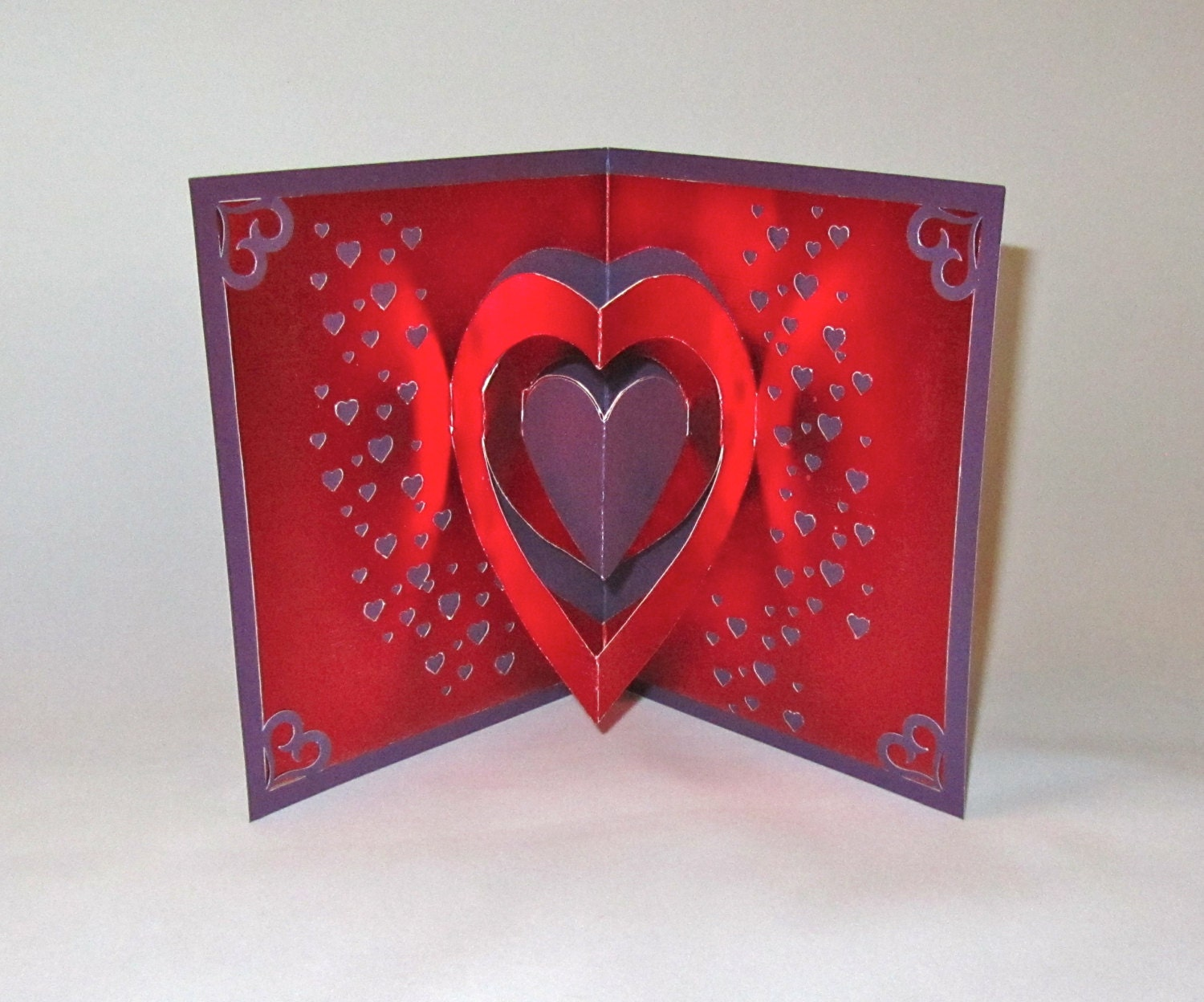 VALENTINES Day 3D Pop Up Card Original Design Handmade – Valentines Pop Up Card