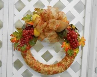 Beautiful Fruit Filled Wreath