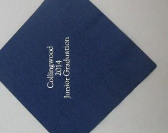 150 beverage size graduation napkins class of 2014