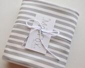 Organic Swaddle Blanket Grey Stripe - Swaddle Blanket - Organic Knit - Baby Blanket - Newborn Blanket - Grey Newborn Swaddle - Photo Prop