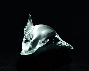 Vintage Licio Zanetti Murano Glass Dolphin