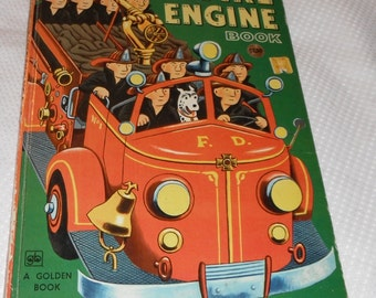 The Great Big Fire Engine Book Pictures by Tibor Gergely Vintage Golden Book 19th Printing 1976