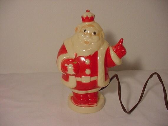 Vintage plastic king santa claus lighted by bekkabrenner