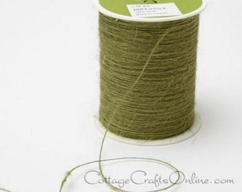 Burlap String Sage Green - 400 YARD ROLL Jute Cord - May Arts  Green #66 - Christmas Packaging / Twine / Thread /  Craft Ribbon