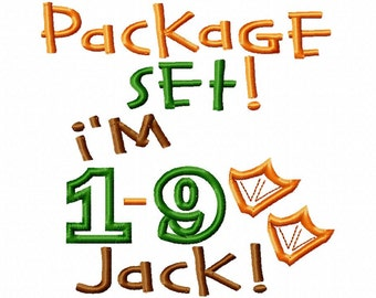 Package Set - I'm 1-9 Jack - Duck Feet Applique - Machine Embroidery Design