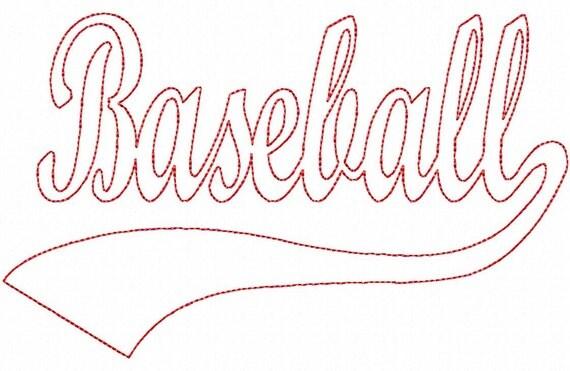 Baseball font swoosh