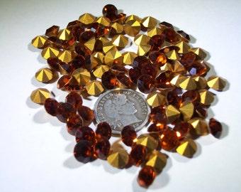 6 Vintage Crystal Swarovski 1100 29ss - Madeira Topaz Rhinestones