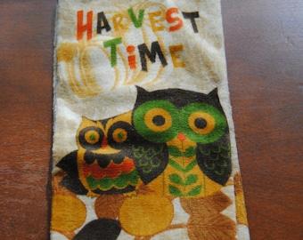 Autumn Owl Kitchen Towel
