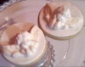 Cookies - Favors - Cherub / Cupid Angel Sugar Cookies - 3.75 each - Any colors - Weddings - Baptisms