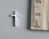 925 Sterling Silver Charm, Cross Charm, Christian Cross Charm, Christian Charm, Tiny Cross Charm, 11mm ( 1 piece )